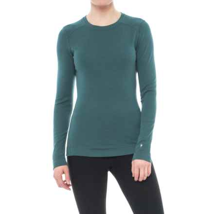 SmartWool NTS 250 Base Layer Top - Merino Wool, Crew Neck, Long Sleeve (For Women) in Sea Pine Heather - Closeouts