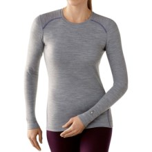 SmartWool NTS 250 Base Layer Top - Merino Wool, Crew Neck, Long Sleeve (For Women) in Silver Gray Heather - Closeouts