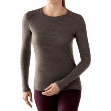 SmartWool NTS 250 Base Layer Top - Merino Wool, Crew Neck, Long Sleeve (For Women) in Taupe Heather/Aubergine - Closeouts