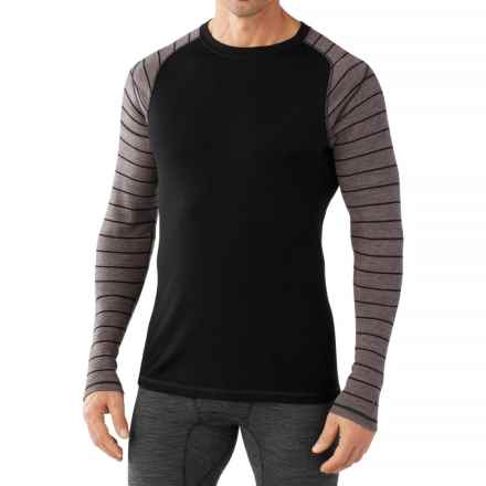 SmartWool NTS 250 Base Layer Top - Merino Wool, Long Sleeve (For Men) in Black/Taupe Heather - Closeouts