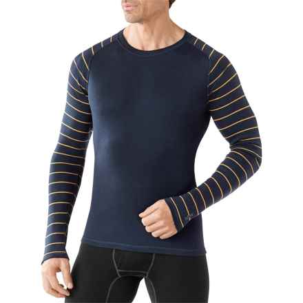 SmartWool NTS 250 Base Layer Top - Merino Wool, Long Sleeve (For Men) in Deep Navy/Sunglow Heather - Closeouts