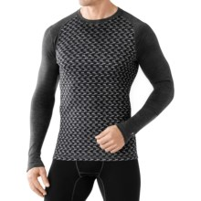 SmartWool NTS 250 Base Layer Top - Merino Wool, Long Sleeve (For Men) in Light Gray Heather/Black - Closeouts