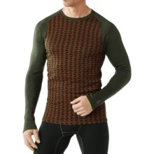 SmartWool NTS 250 Base Layer Top - Merino Wool, Long Sleeve (For Men) in Olive Heather/Black - Closeouts