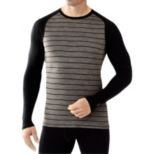 SmartWool NTS 250 Base Layer Top - Merino Wool, Long Sleeve (For Men) in Taupe Heather/Black - Closeouts