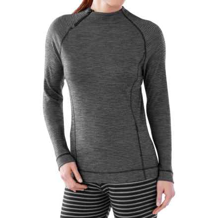 SmartWool NTS 250 Base Layer Top - Merino Wool, Long Sleeve (For Women) in Black/Light Grey Heather - Closeouts