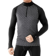 SmartWool NTS 250 Base Layer Top - Merino Wool, Zip Neck, Long Sleeve (For Men) in Black/Light Gray Heather - Closeouts