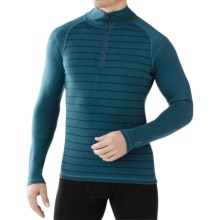 SmartWool NTS 250 Base Layer Top - Merino Wool, Zip Neck, Long Sleeve (For Men) in Deep Sea Heather - Closeouts