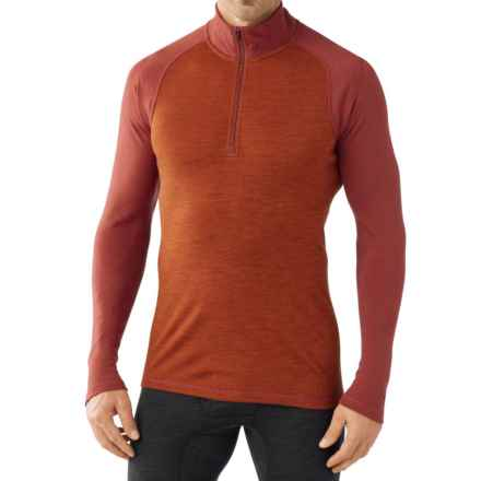 SmartWool NTS 250 Base Layer Top - Merino Wool, Zip Neck, Long Sleeve (For Men) in Moab Rust Heather - Closeouts