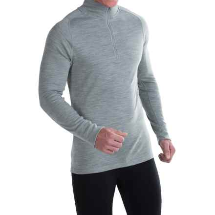 SmartWool NTS 250 Base Layer Top - Merino Wool, Zip Neck, Long Sleeve (For Men) in Silver Gray Heather - Closeouts