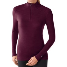 SmartWool NTS 250 Base Layer Top - Merino Wool, Zip Neck, Long Sleeve (For Women) in Aubergine Heather - Closeouts