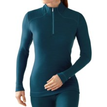 SmartWool NTS 250 Base Layer Top - Merino Wool, Zip Neck, Long Sleeve (For Women) in Deep Sea Heather - Closeouts