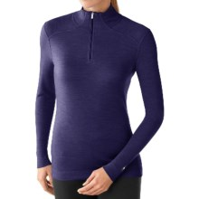 SmartWool NTS 250 Base Layer Top - Merino Wool, Zip Neck, Long Sleeve (For Women) in Imperial Purple Heather - Closeouts