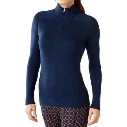 SmartWool NTS 250 Base Layer Top - Merino Wool, Zip Neck, Long Sleeve (For Women) in Indigo Heather - Closeouts