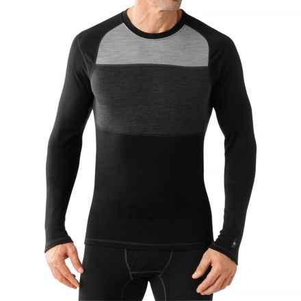 SmartWool NTS 250 Color-Block Base Layer Top - Merino Wool (For Men) in Black - Closeouts