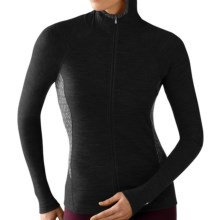 SmartWool NTS 250 Midweight Base Layer Hoodie - Merino Wool, Full Zip (For Women) in Black - Closeouts