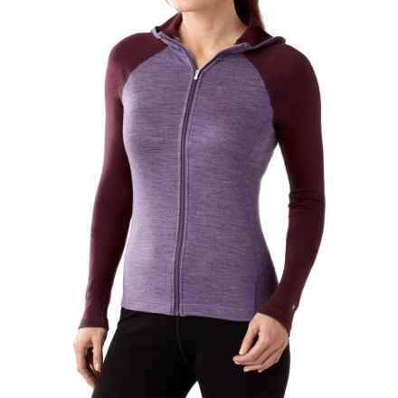 SmartWool NTS 250 Midweight Base Layer Hoodie - Merino Wool, Full Zip (For Women) in Desert Purple Heather - Closeouts