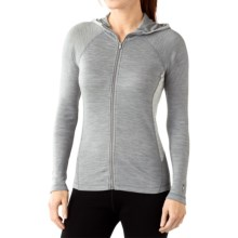 SmartWool NTS 250 Midweight Base Layer Hoodie - Merino Wool, Full Zip (For Women) in Light Gray Heather - Closeouts