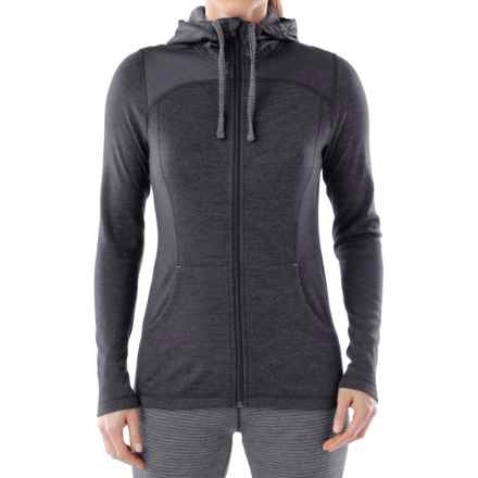 SmartWool NTS 250 Midweight Sport Hoodie - Merino Wool, Full Zip (For Women) in Charcoal Heather - Closeouts