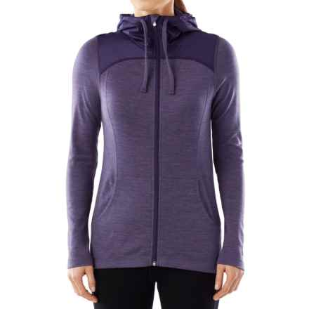 SmartWool NTS 250 Midweight Sport Hoodie - Merino Wool, Full Zip (For Women) in Desert Prple Heather - Closeouts