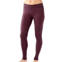 SmartWool NTS 250 Pattern Base Layer Bottoms - Merino Wool (For Women) in Aubergine Heather/Hibiscus Heather - Closeouts