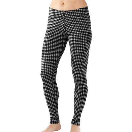 SmartWool NTS 250 Pattern Base Layer Bottoms - Merino Wool (For Women) in Black/Light Gray Heather - Closeouts