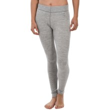 SmartWool NTS 250 Pattern Base Layer Bottoms - Merino Wool (For Women) in Silver Gray Heather - Closeouts