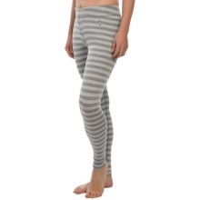 SmartWool NTS 250 Pattern Base Layer Bottoms - Merino Wool (For Women) in Silver - Closeouts
