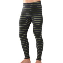 SmartWool NTS 250 Pattern Base Layer Bottoms - Merino Wool, Midweight (For Men) in Charcoal Heather - Closeouts