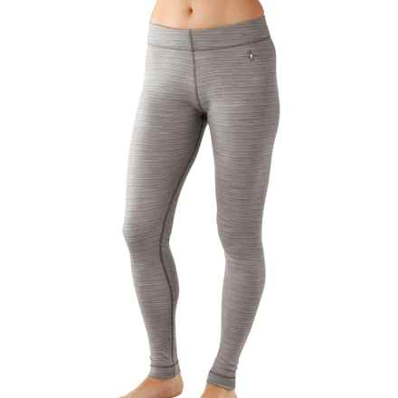 SmartWool NTS 250 Pattern Base Layer Pants - Merino Wool (For Women) in Natural/Light Gray Heather - Closeouts