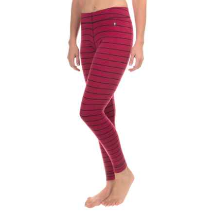 SmartWool NTS 250 Pattern Base Layer Pants - Merino Wool (For Women) in Persian Red Heather - Closeouts