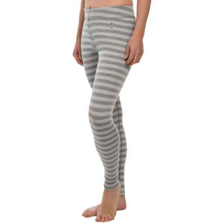 SmartWool NTS 250 Pattern Base Layer Pants - Merino Wool (For Women) in Silver - Closeouts