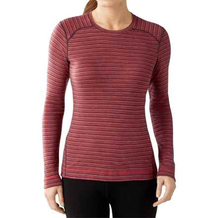 SmartWool NTS 250 Pattern Base Layer Top - Merino Wool, Crew Neck, Long Sleeve (For Women) in Aubergine Heather - Closeouts