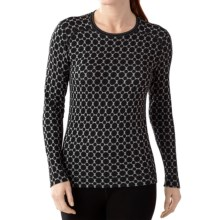 SmartWool NTS 250 Pattern Base Layer Top - Merino Wool, Crew Neck, Long Sleeve (For Women) in Black - Closeouts