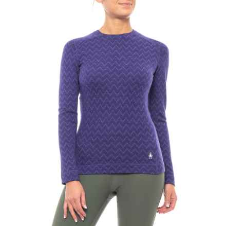 SmartWool NTS 250 Pattern Base Layer Top - Merino Wool, Crew Neck, Long Sleeve (For Women) in Imperial/Silver Grey - Closeouts