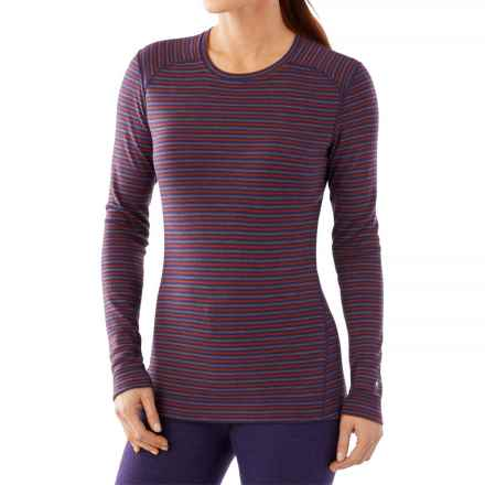 SmartWool NTS 250 Pattern Base Layer Top - Merino Wool, Crew Neck, Long Sleeve (For Women) in Mountain Purple Heather/Moab Rust Heather - Closeouts