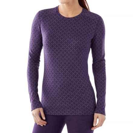 SmartWool NTS 250 Pattern Base Layer Top - Merino Wool, Crew Neck, Long Sleeve (For Women) in Mountain Purple Heather - Closeouts