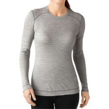 SmartWool NTS 250 Pattern Base Layer Top - Merino Wool, Crew Neck, Long Sleeve (For Women) in Natural/Light Gray Heather - Closeouts