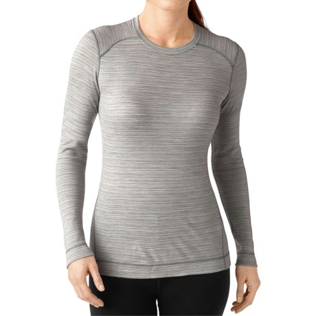 SmartWool NTS 250 Pattern Base Layer Top - Merino Wool, Crew Neck, Long Sleeve (For Women) in Natural/Light Gray Heather