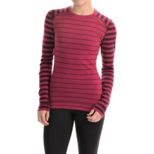SmartWool NTS 250 Pattern Base Layer Top - Merino Wool, Crew Neck, Long Sleeve (For Women) in Persian Red Heather - Closeouts