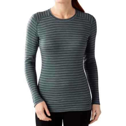 SmartWool NTS 250 Pattern Base Layer Top - Merino Wool, Crew Neck, Long Sleeve (For Women) in Sea Pine Heather - Closeouts