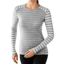 SmartWool NTS 250 Pattern Base Layer Top - Merino Wool, Crew Neck, Long Sleeve (For Women) in Silver Gray Heather/Natural - Closeouts