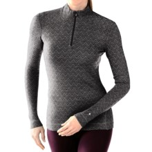 SmartWool NTS 250 Pattern Base Layer Top - Merino Wool, Zip Neck, Long Sleeve (For Women) in Black - Closeouts