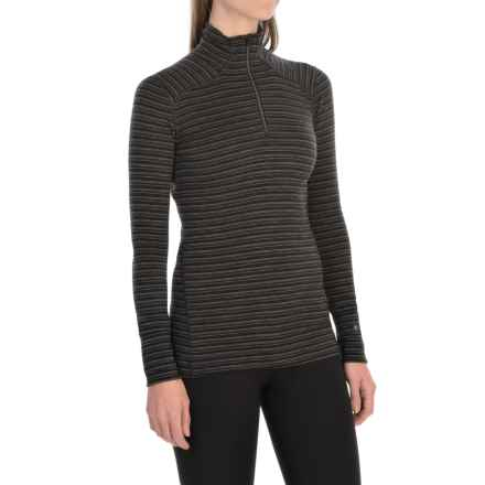 SmartWool NTS 250 Pattern Base Layer Top - Merino Wool, Zip Neck, Long Sleeve (For Women) in Charcoal Heather - Closeouts