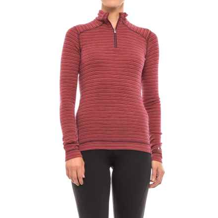 SmartWool NTS 250 Pattern Base Layer Top - Merino Wool, Zip Neck, Long Sleeve (For Women) in Hibiscus Heather - Closeouts