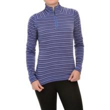 SmartWool NTS 250 Pattern Base Layer Top - Merino Wool, Zip Neck, Long Sleeve (For Women) in Purple - Closeouts