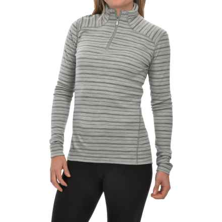 SmartWool NTS 250 Pattern Base Layer Top - Merino Wool, Zip Neck, Long Sleeve (For Women) in Silver - Closeouts