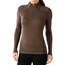 SmartWool NTS 250 Pattern Base Layer Top - Merino Wool, Zip Neck, Long Sleeve (For Women) in Sunglow Heather - Closeouts