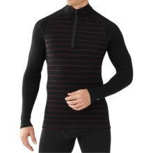 SmartWool NTS 250 Print Midweight Base Layer Top - Merino Wool, Zip Neck, Long Sleeve (For Men) in Black/Aubergine - Closeouts