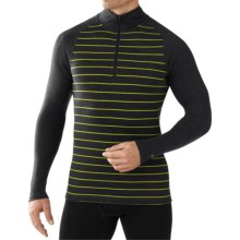 SmartWool NTS 250 Print Midweight Base Layer Top - Merino Wool, Zip Neck, Long Sleeve (For Men) in Charcoal Heather - Closeouts
