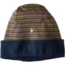 SmartWool NTS 250 Reversible Pattern Beanie - Merino Wool (For Men and Women) in Sunglow Heather - Closeouts